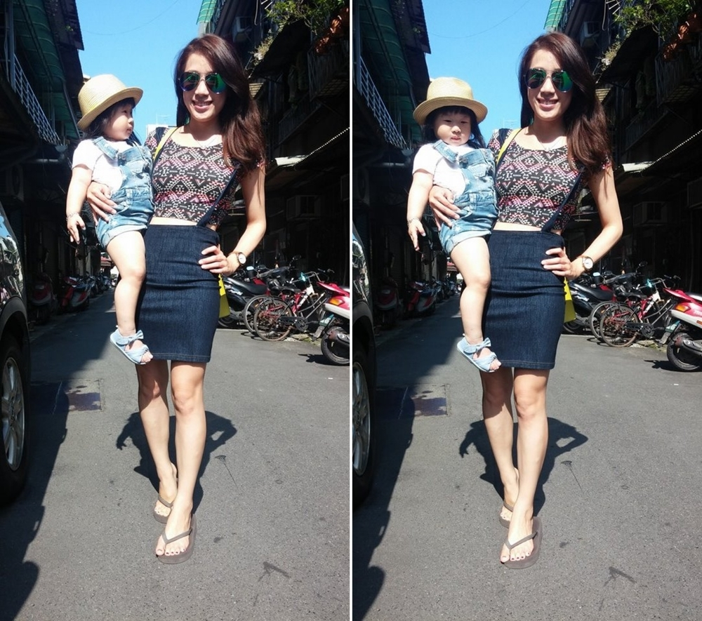 Baby也是個好時尚的配件阿 XD