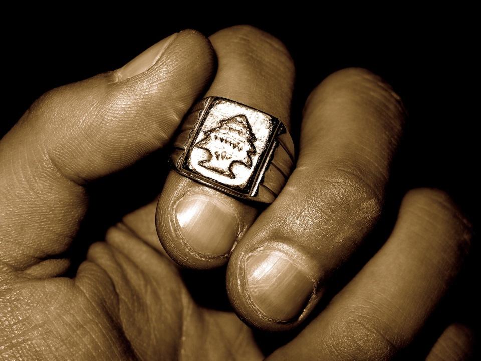 Lebanese Cedar Ring