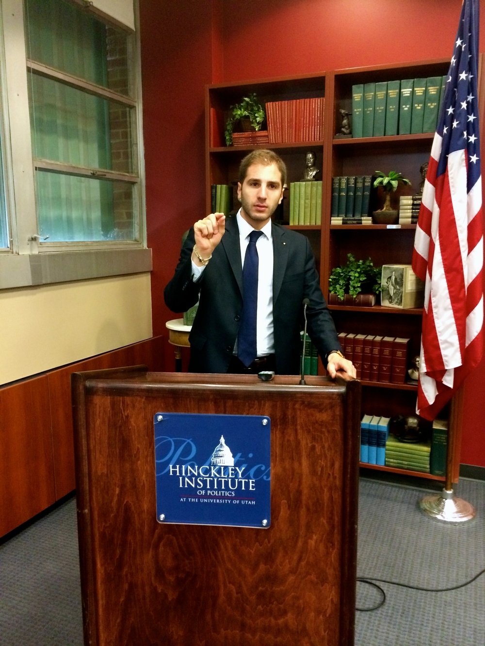 Paul Klimos at the Hinckley Institute of Politics (Utah, USA)