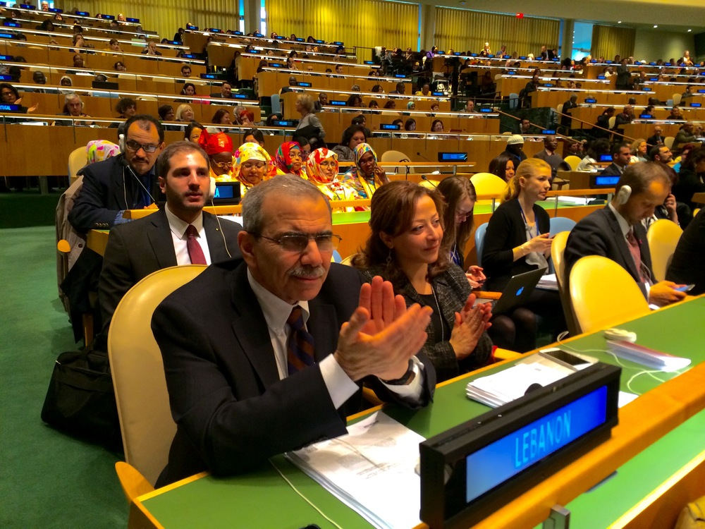 Paul Klimos with Lebanon's Permanent Mission to the UN