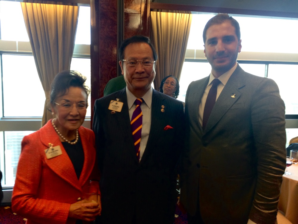 Paul Klimos & Jitsuhiro Yamada, International President of Lions Clubs International