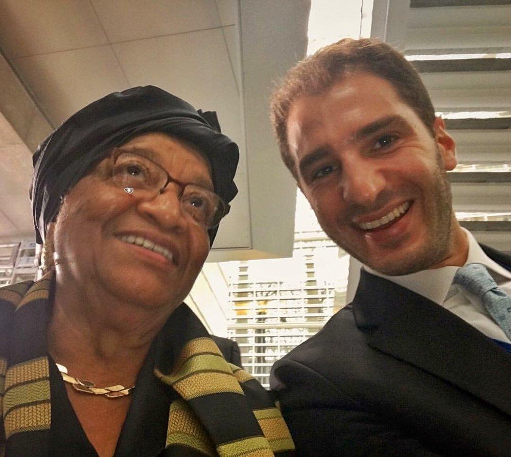 Paul Klimos & Ellen Johnson Sirleaf, President of Liberia