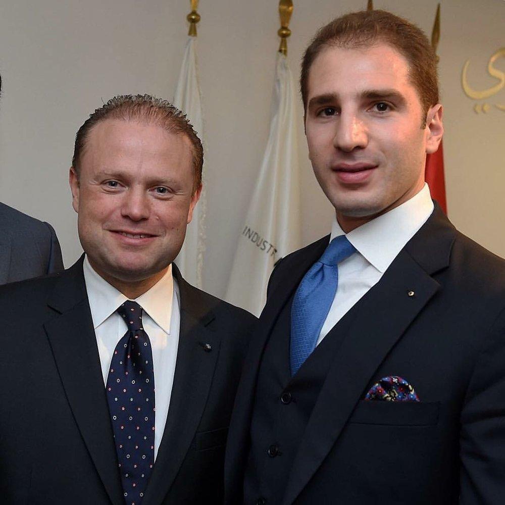 Paul Klimos & Joseph Muscat, Prime Minister of Malta