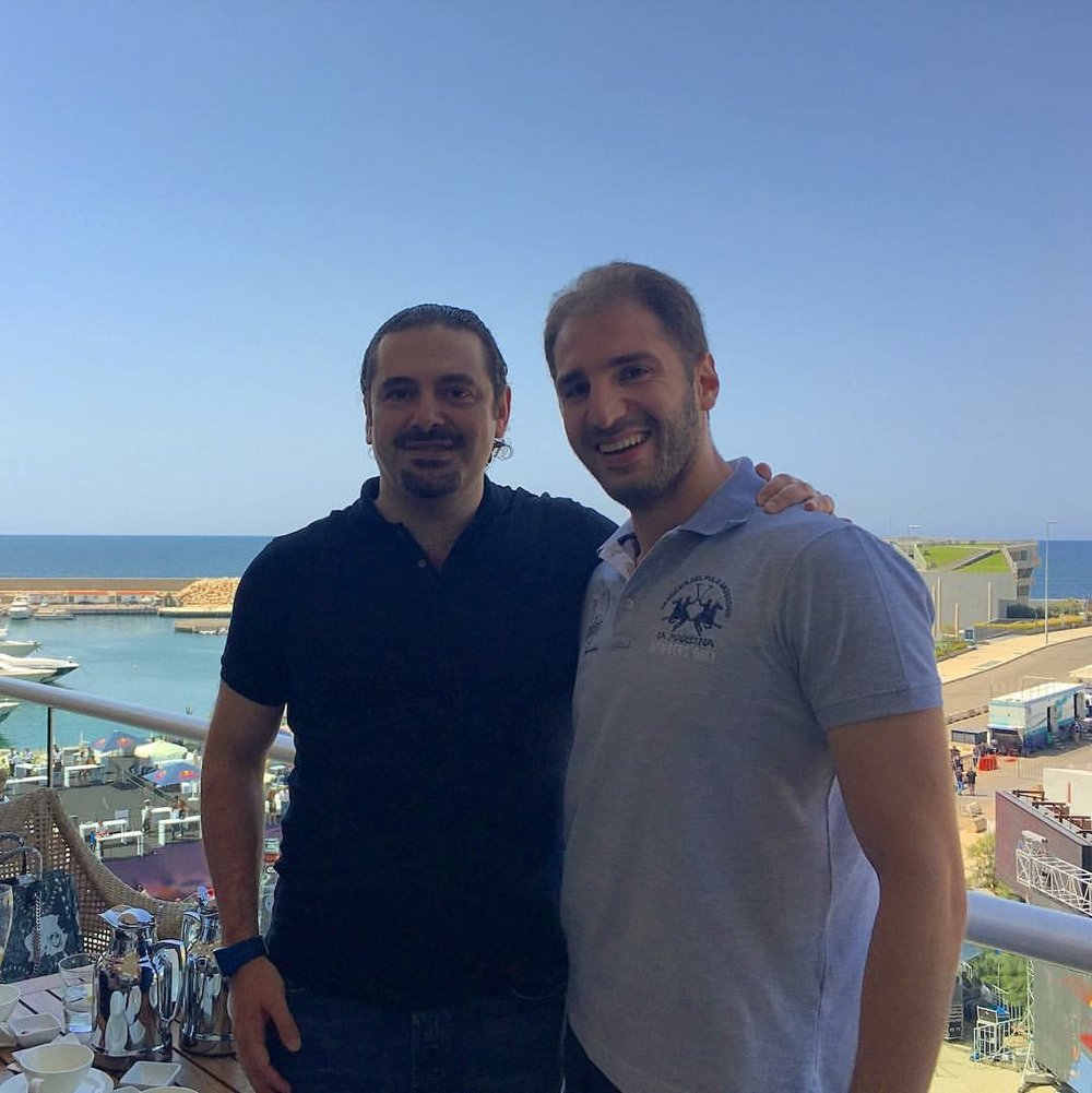 Paul Klimos & H.E. Saad Hariri, Prime Minister of Lebanon