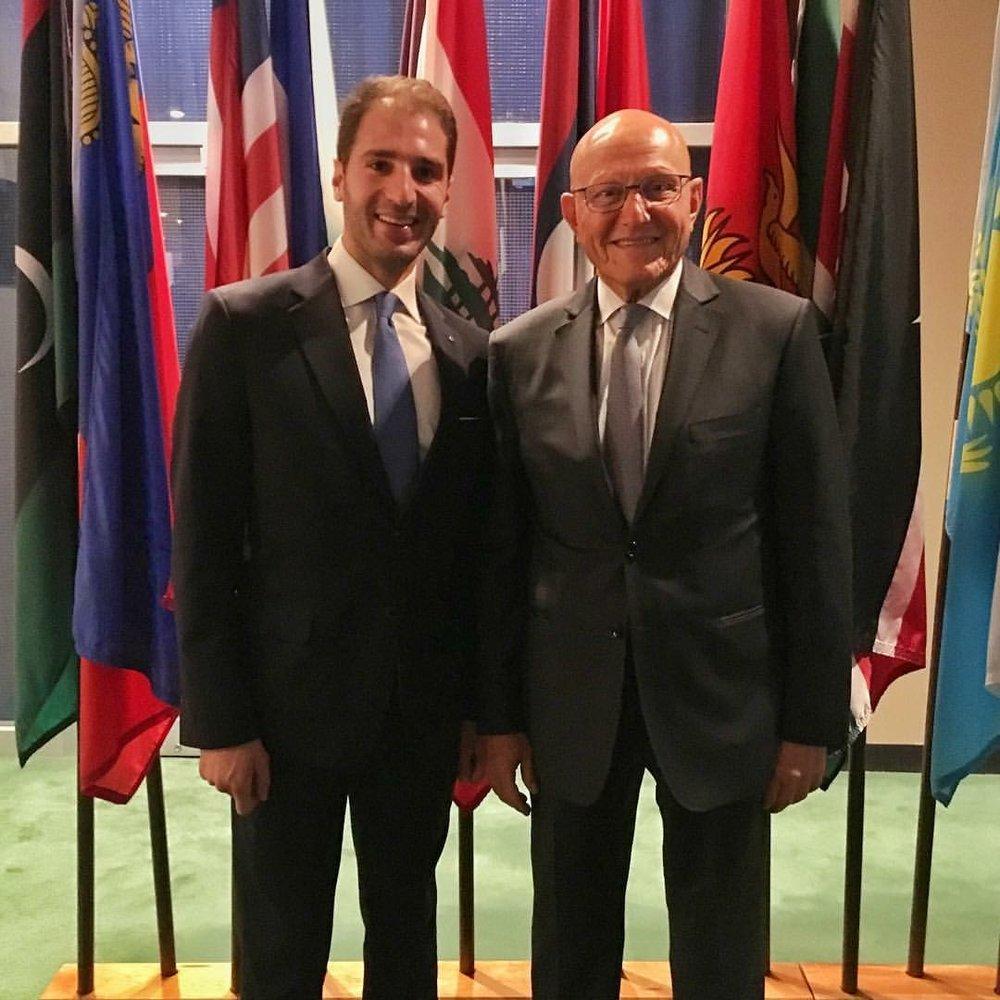 Paul Klimos & H.E. Tammam Salam, Prime Minister of Lebanon