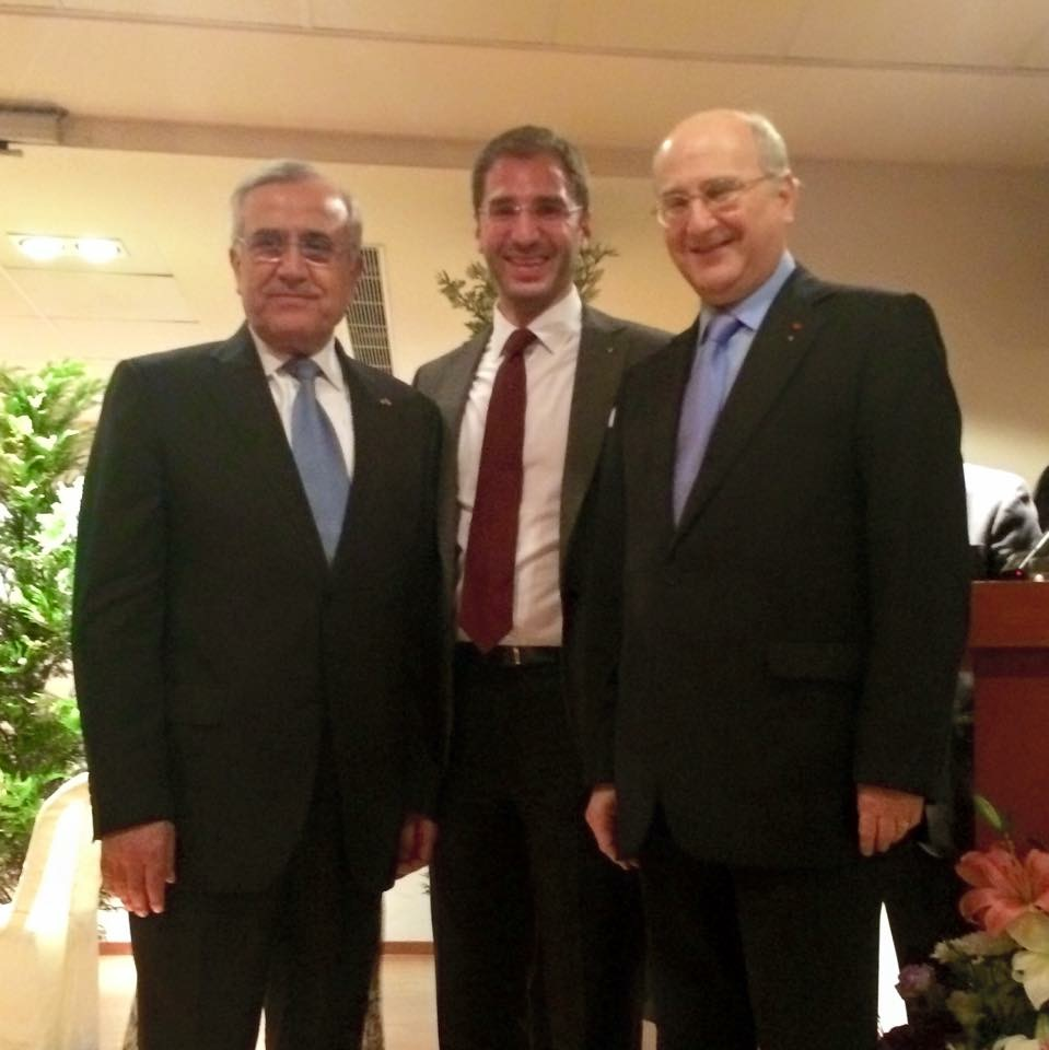 Paul Klimos, Michel Klimos & General Michel Sleiman, President of the Lebanese Republic