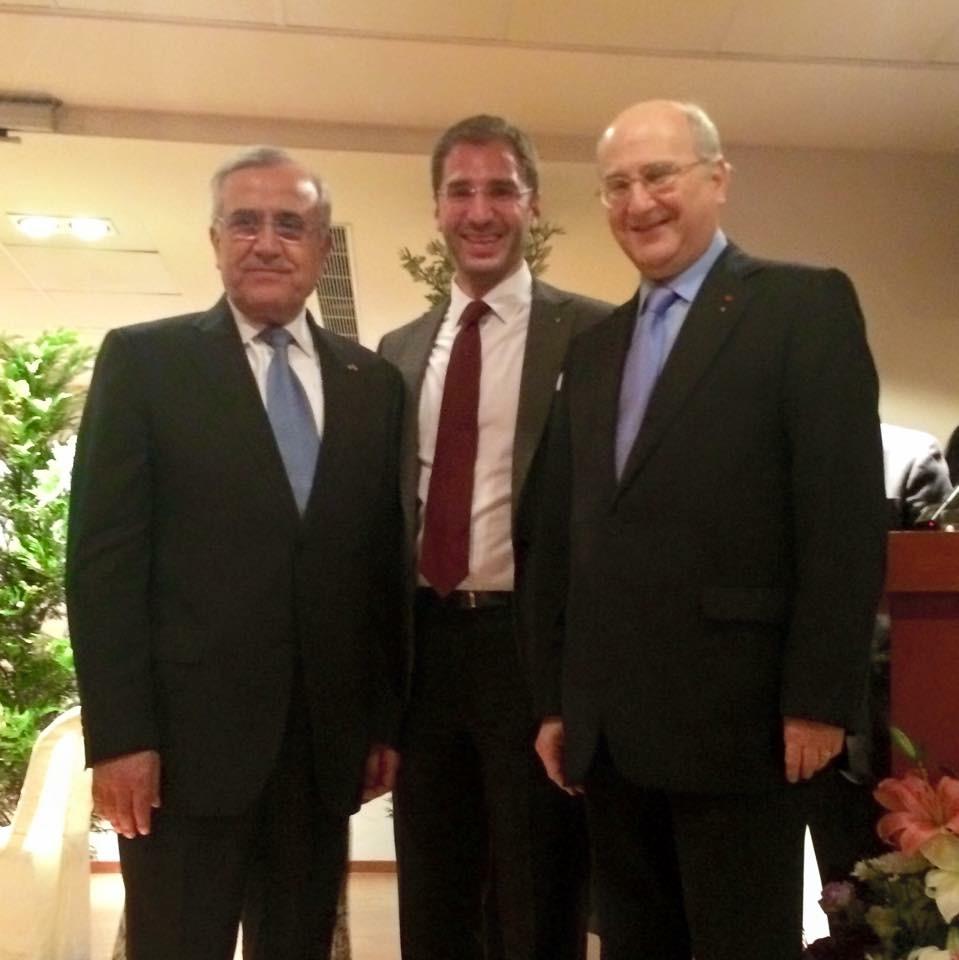 Paul Klimos, Michel Klimos & H.E. General Michel Sleiman, President of the Lebanese Republic
