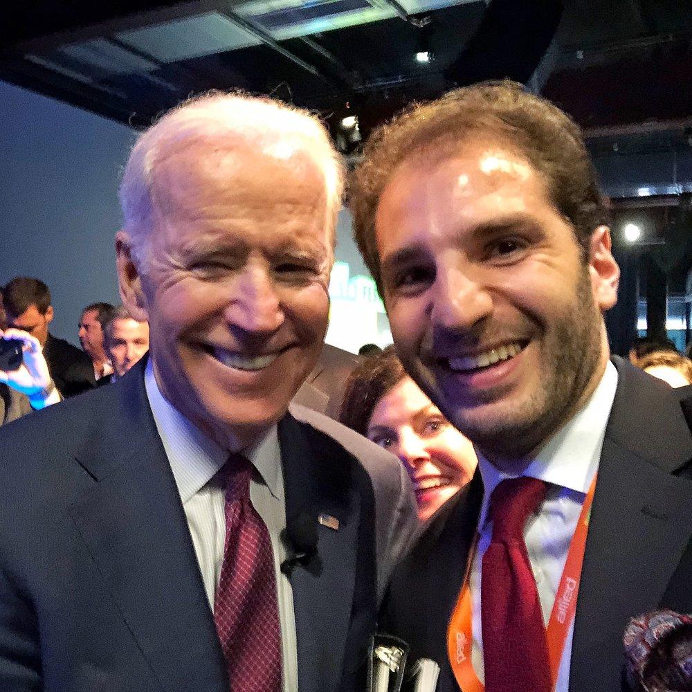 Paul Klimos & Joe Biden, Former Vice President of the United States of America