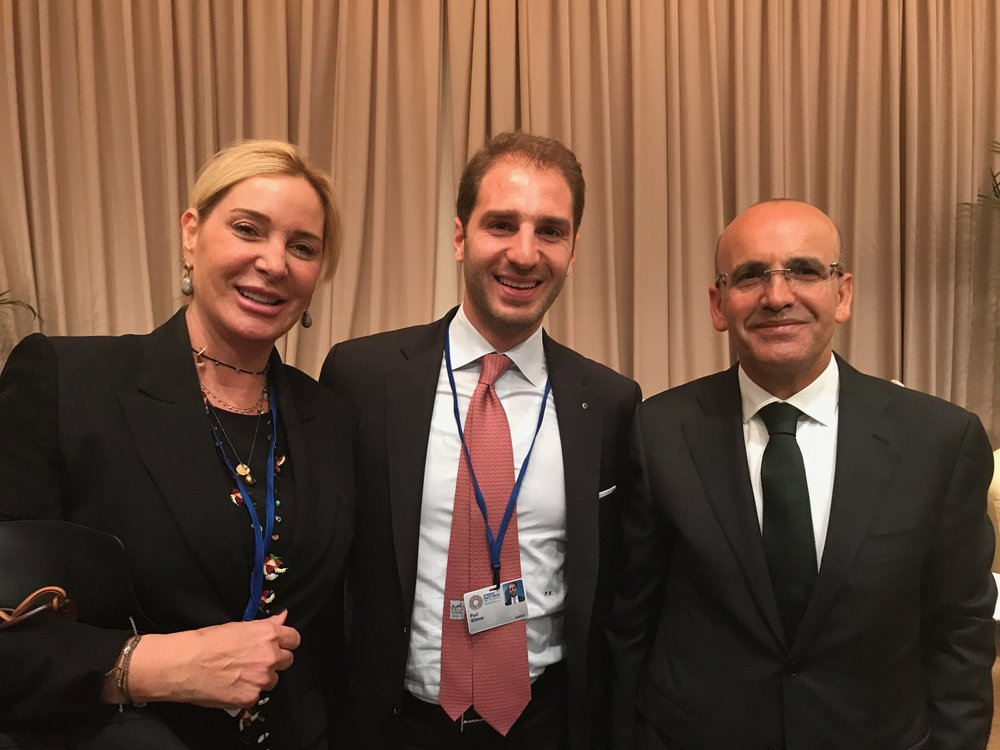 Paul Klimos with Esra Ozsuer, Founding President of Maya Foundation & Mehmet Şimşek, Deputy Prime Minister of Turkey