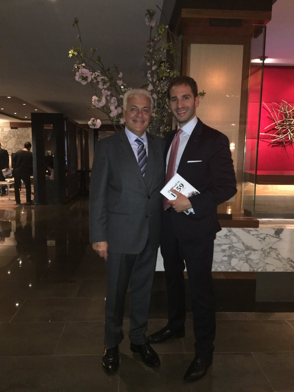 Paul Klimos with The Honorable Walid Maalouf