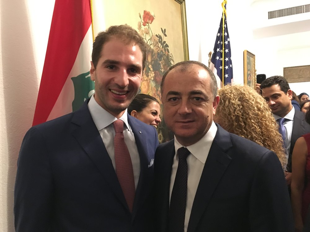 Paul Klimos & Elias Bou Saab, Lebanese Education Minister