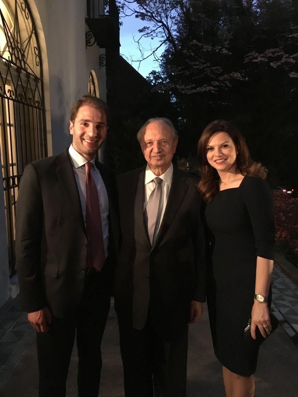 Paul Klimos, Violette Khairallah Safadi & Mohammad Safadi, Lebanese Minister of Finance