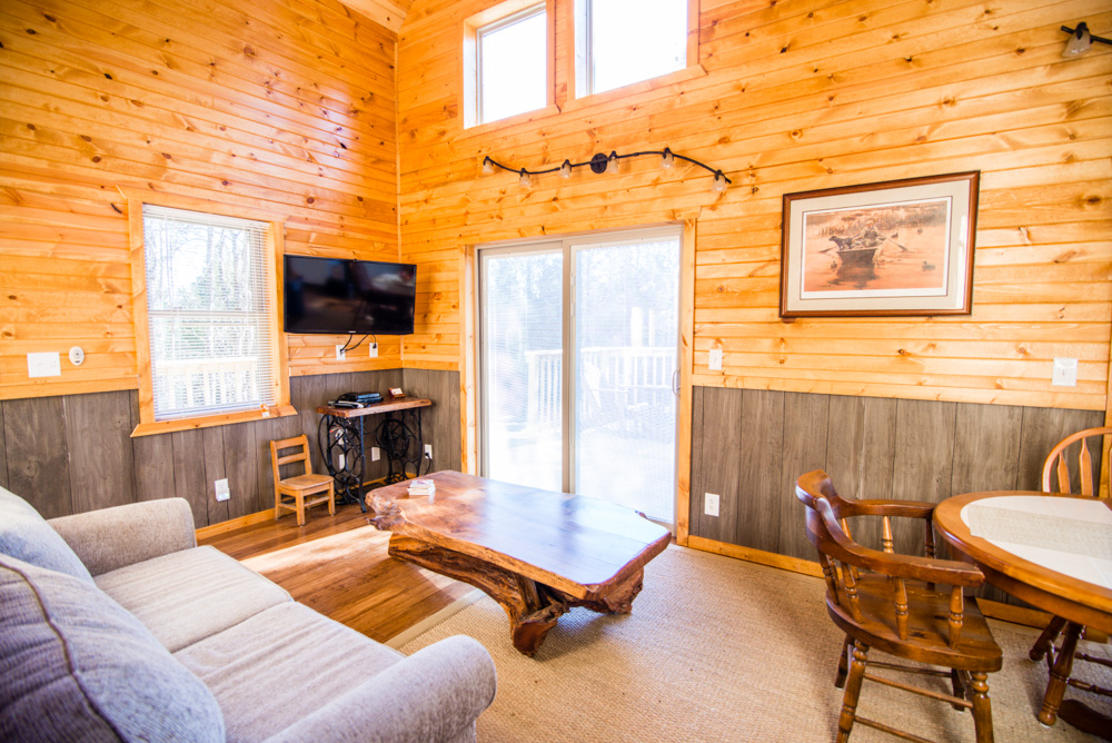 Hopewell Croft Living Room - Adams County Cabin Rental