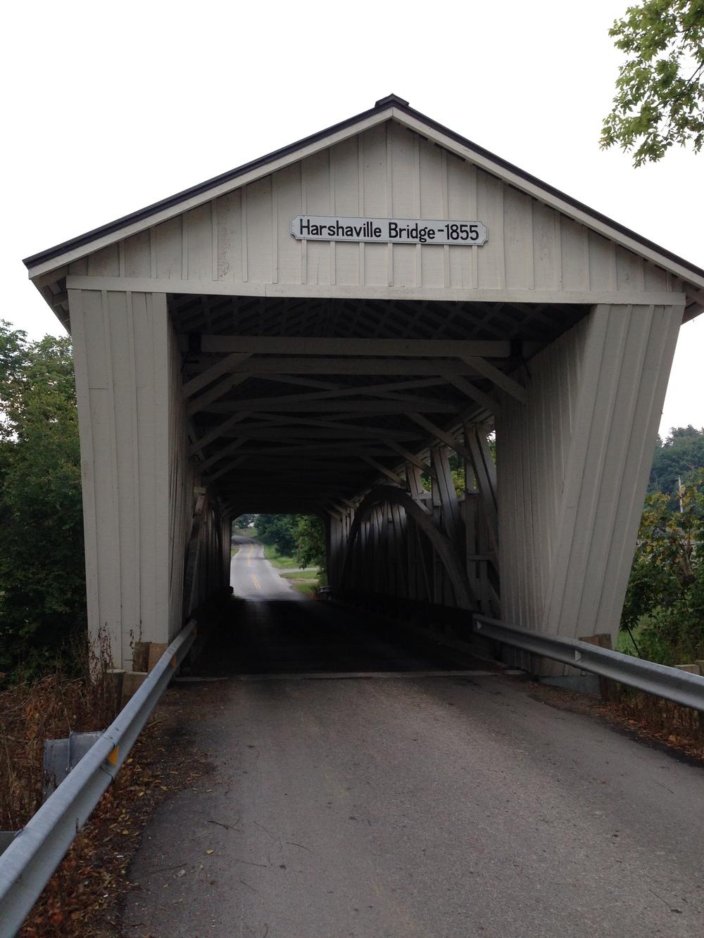 Harshaville Bridge, 1855