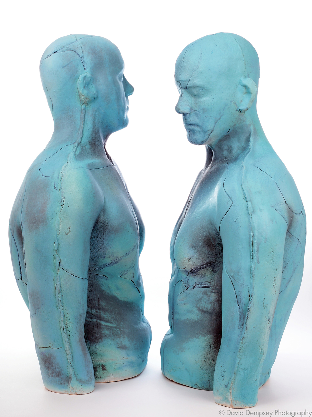Stoneware torsos by Eleanor Swan