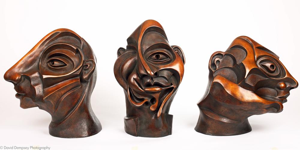 Bronze heads