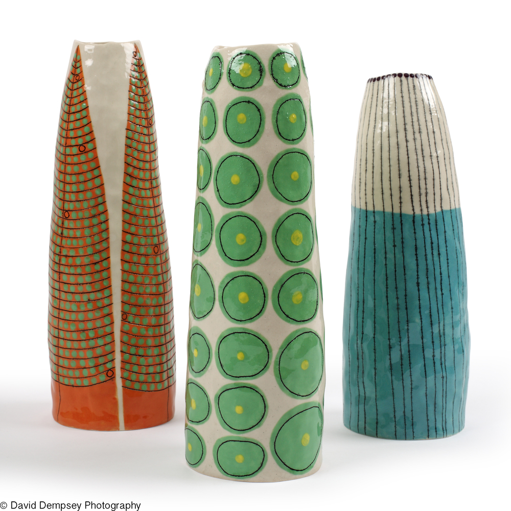 Ceramic vase designs by Andrew Ludick