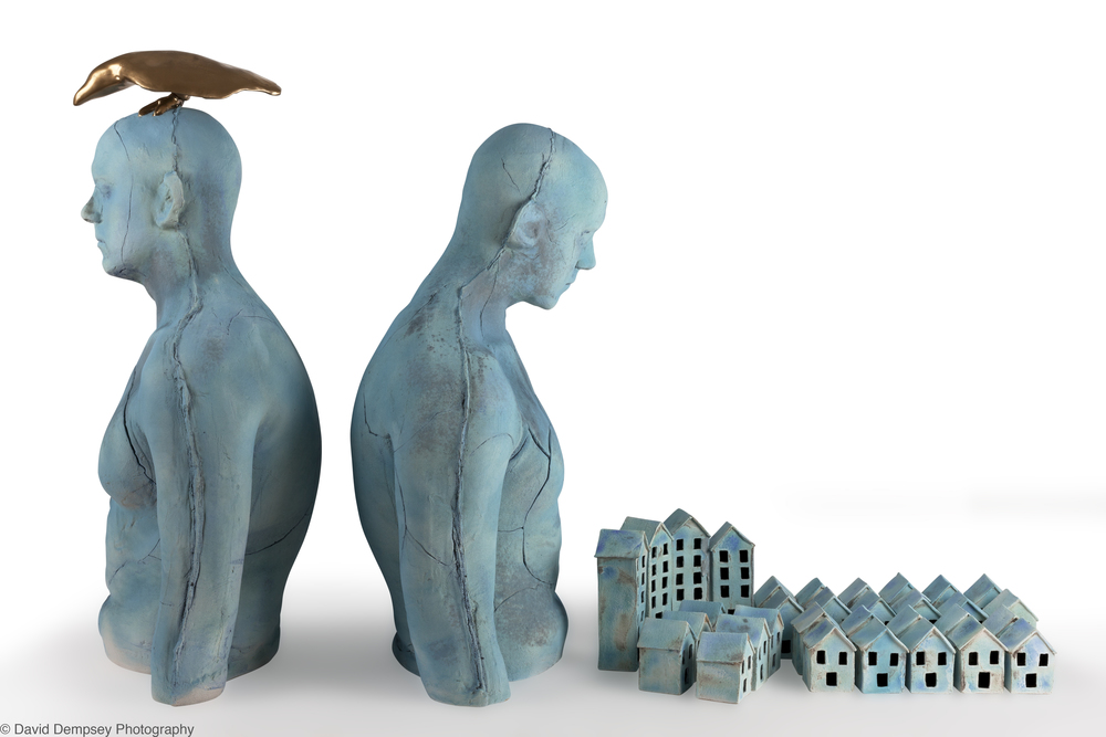 Torsos & houses by Eleanor Swan