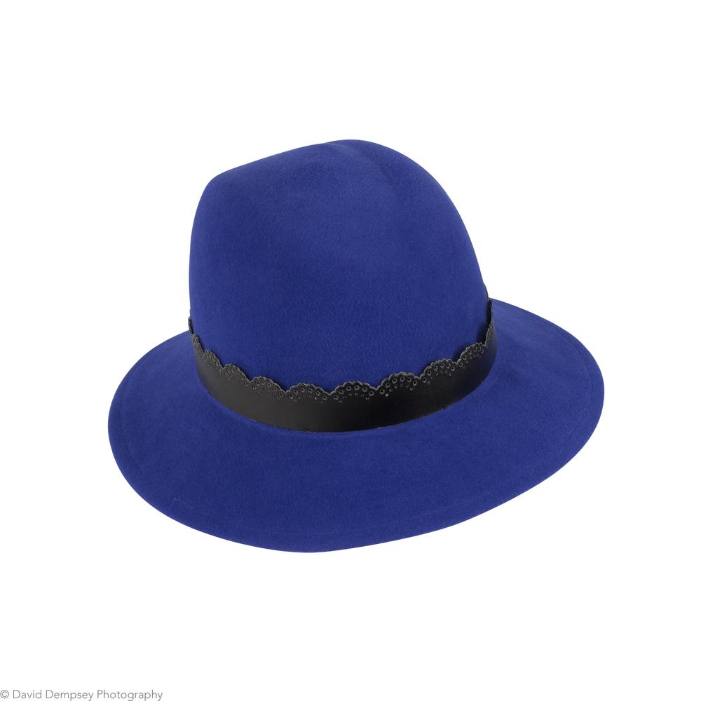 Cornflower blue fedora - Palles Millinery