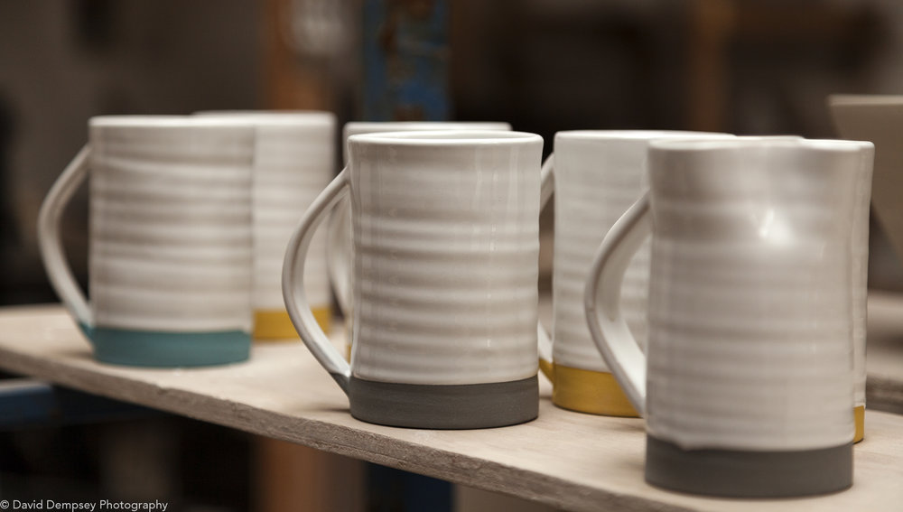Diem Pottery - Mugs in workshop
