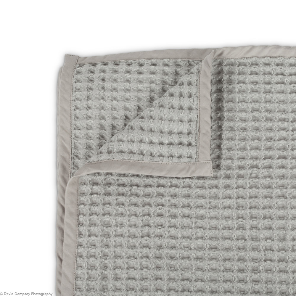 White and Green - waffle bedspread