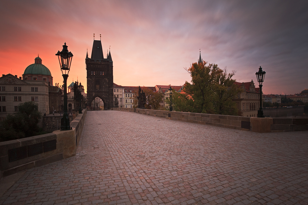 Day Break at the Charles Bridge
