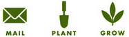 mail plant grow icons