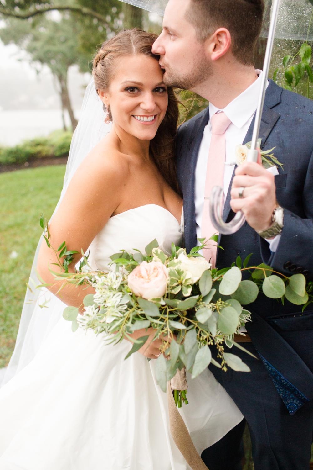 Rainy Annapolis wedding