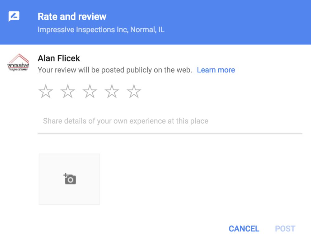 Write a review - We value your thoughts and would love it if you would leave a review on Google! Thank you