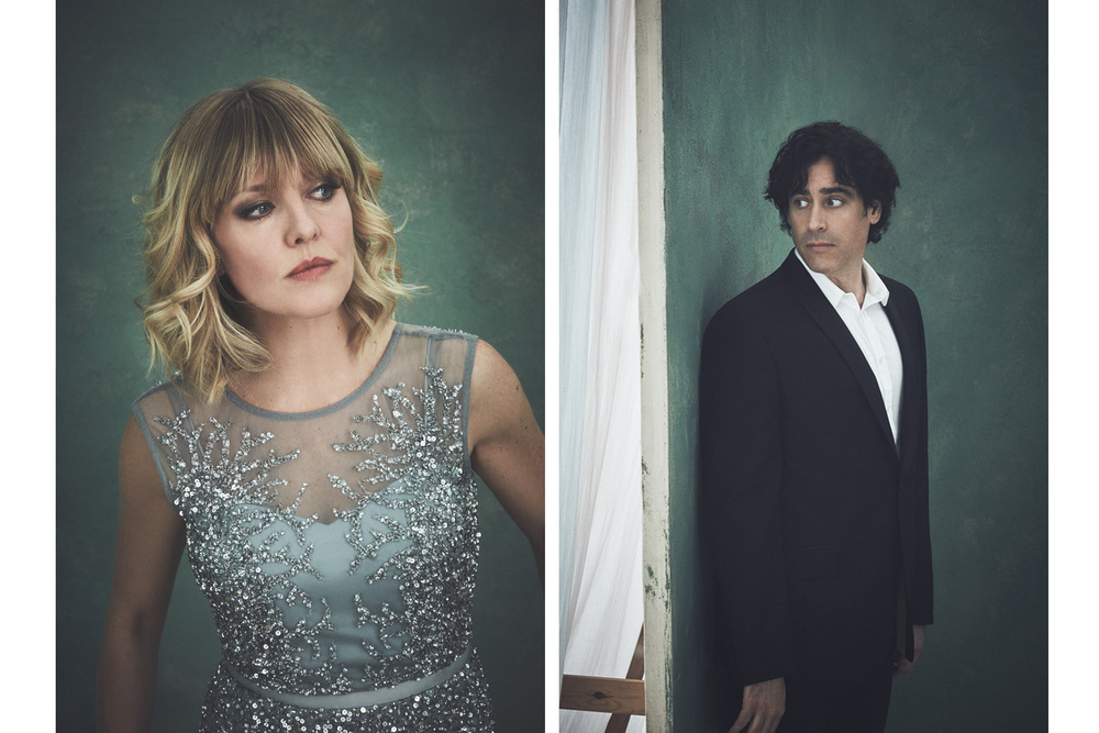 Ashley Jensen and Steven Mangan