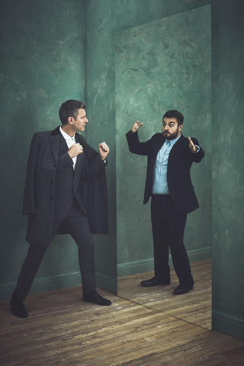 Adam Hills and Alex Brooker