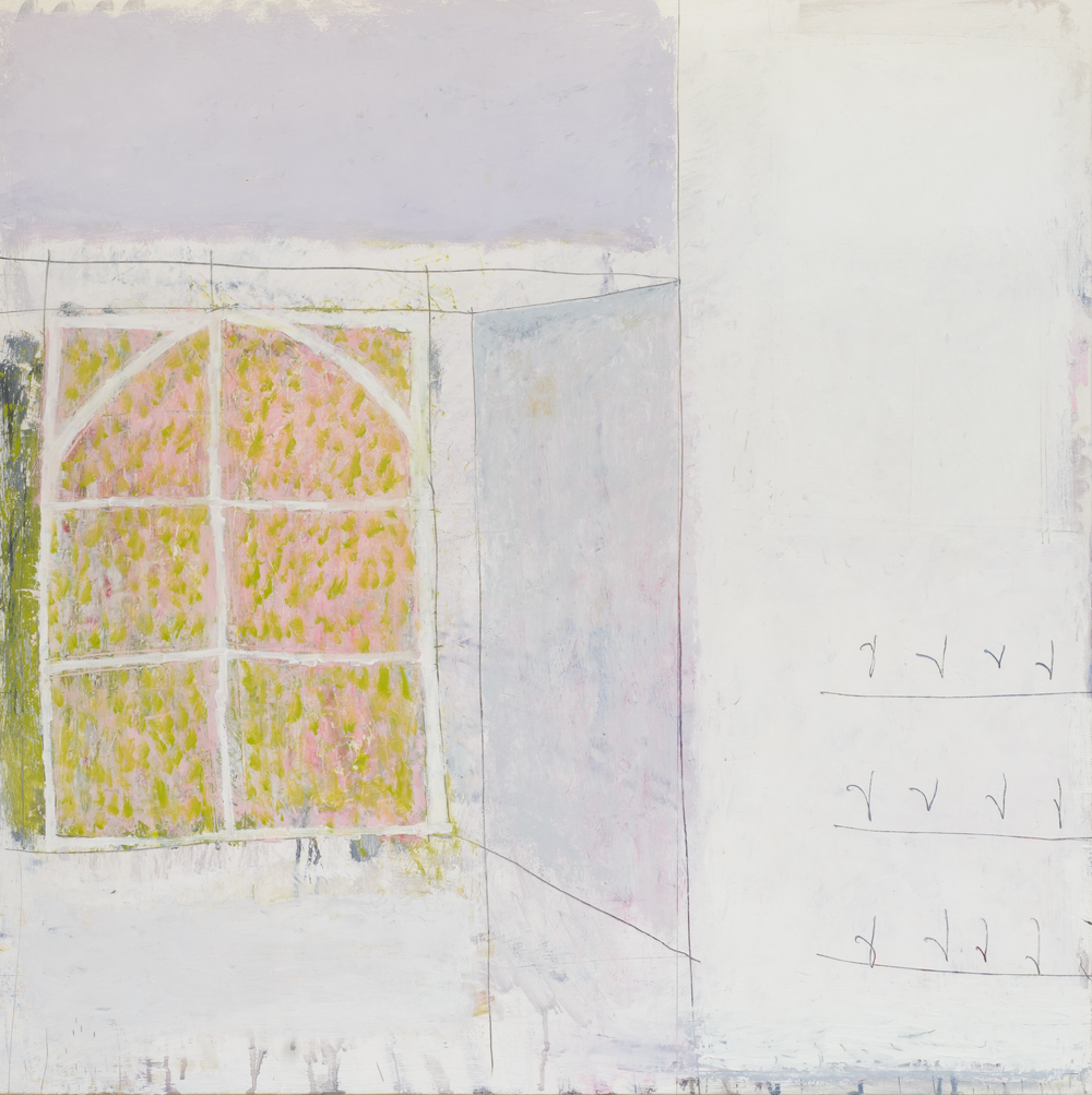 spring. oil & graphite on canvas  100 x 100 cm