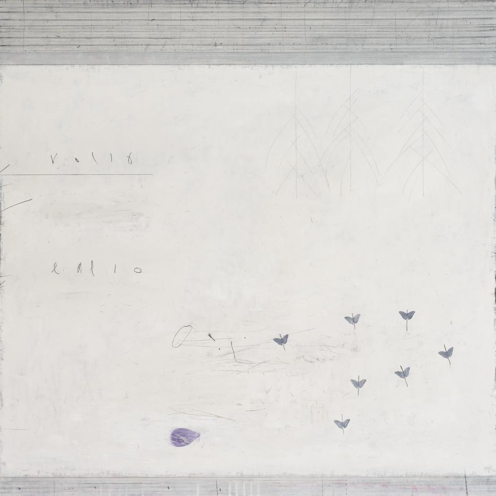 airborne II. oil & graphite on canvas  100 x 100 cm