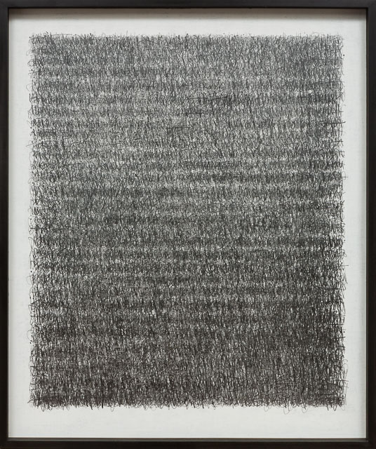 A Poem - the journey & A Prayer - longhand. graphite on canvas   104 x 124 cm