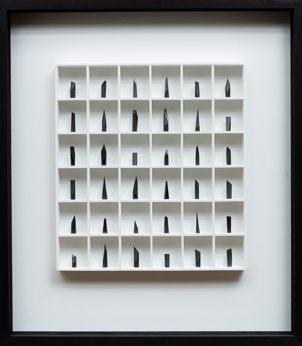 36. graphite & wood construction.  70 x 8 x 90 cm