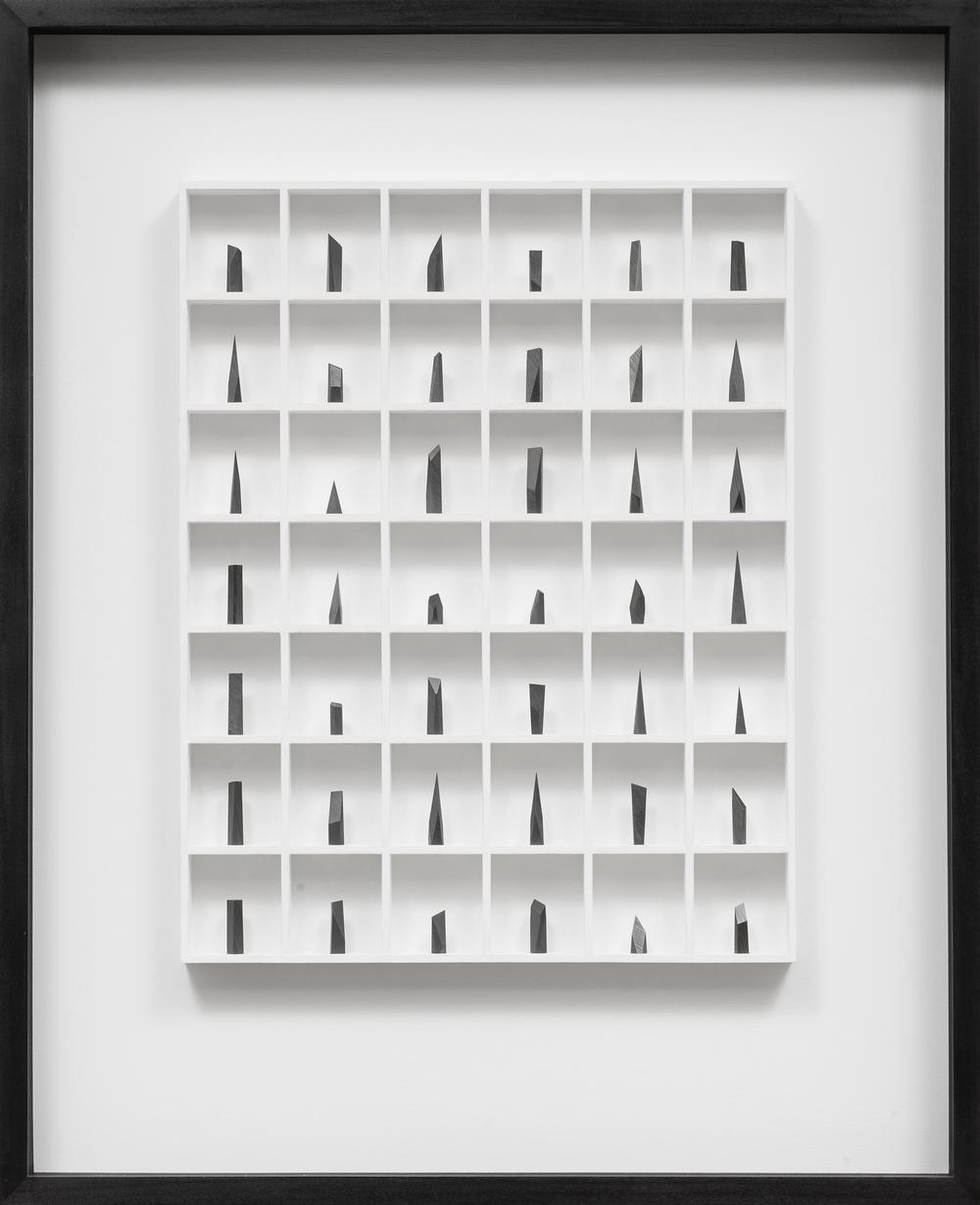 42. graphite & wood construction  73 x 8 x 90 cm