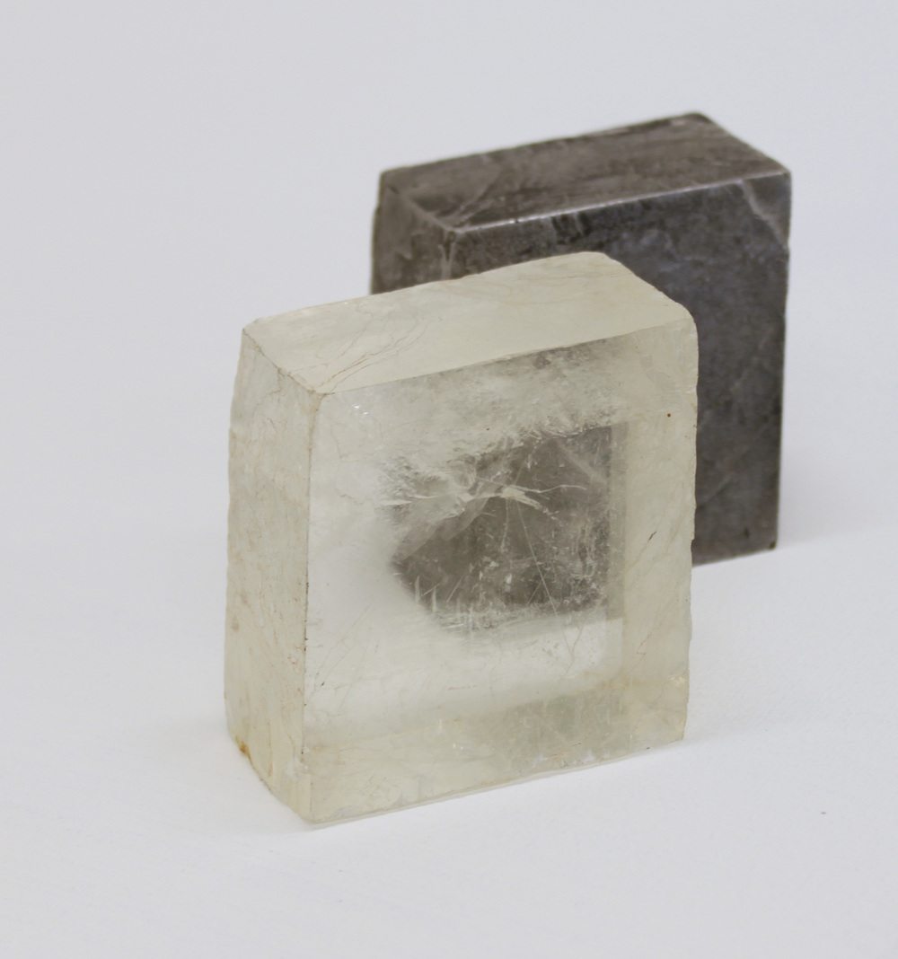 Replica  cast found object - Calcite crystal crystal & aluminium
