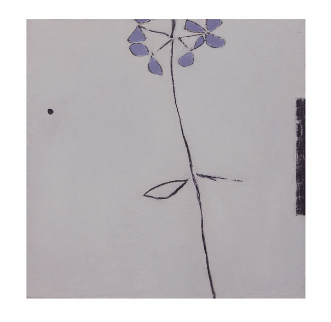 Daylight | Hydrangea | blue hue 20x20cm oil & graphite on wood