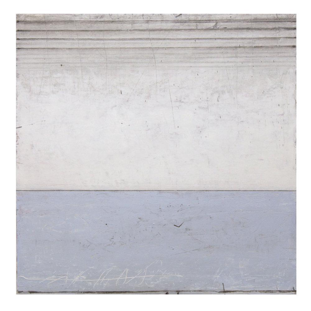 Pale Light  40 x 40cm oil & graphite on canvas