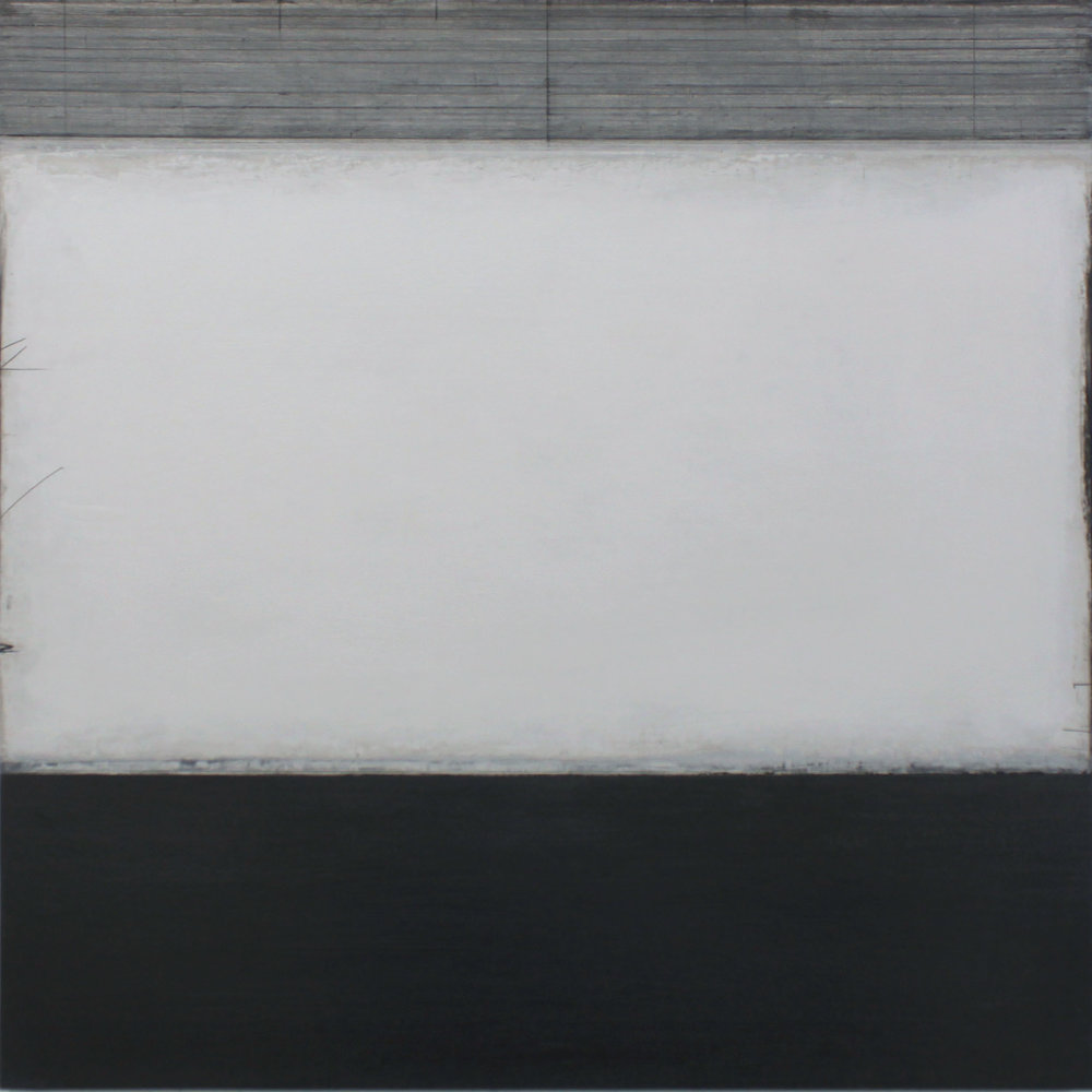 the sea | distilled -  oil & graphite on canvas  100 x 100 cm