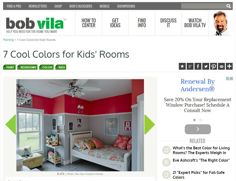 Nor-Son's 'Shabby Chic Farmhouse' featured on bobvila.com