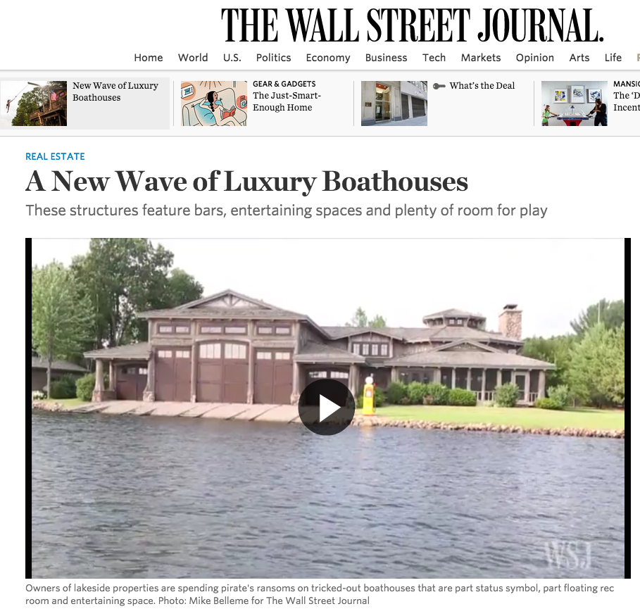 Nor-Son's 'Adirondack Boat House' featured in The Wall Street Journal