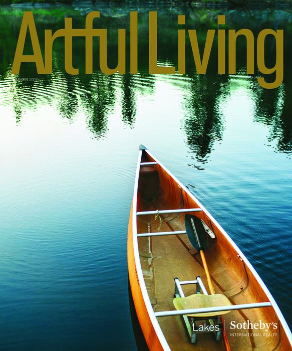 Nor-Son's 'Adirondack Boat House' featured in the summer issue of Artful Living Magazine