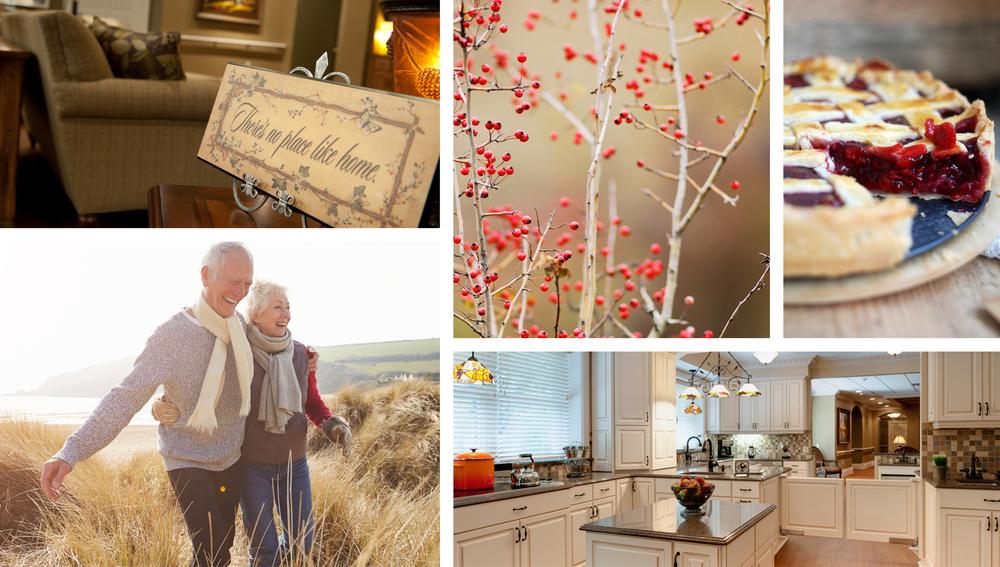 Senior living lifestyle collage