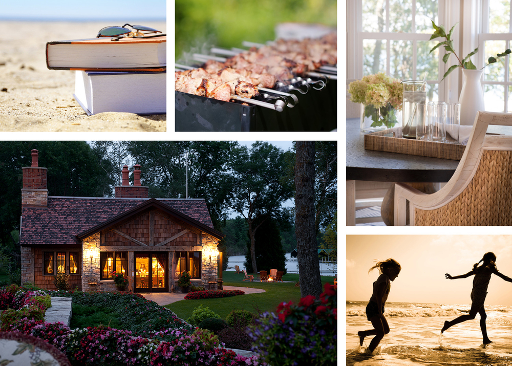 Lake home & cabin lifestyle collage