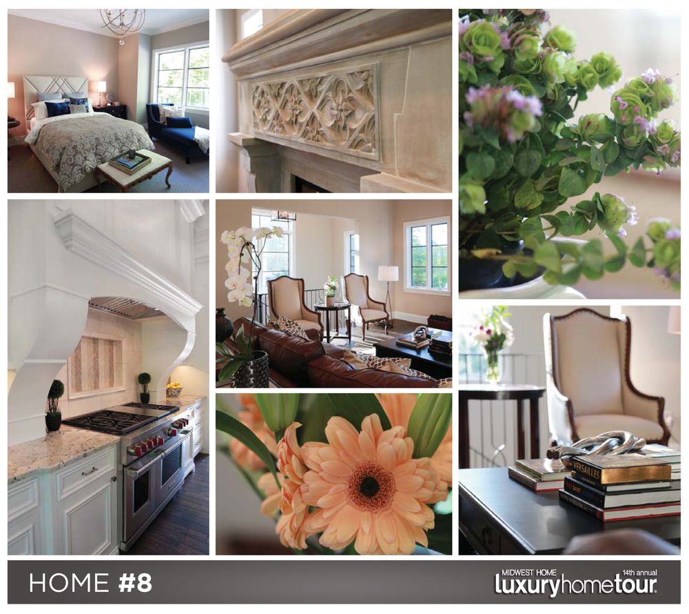 French country home collage