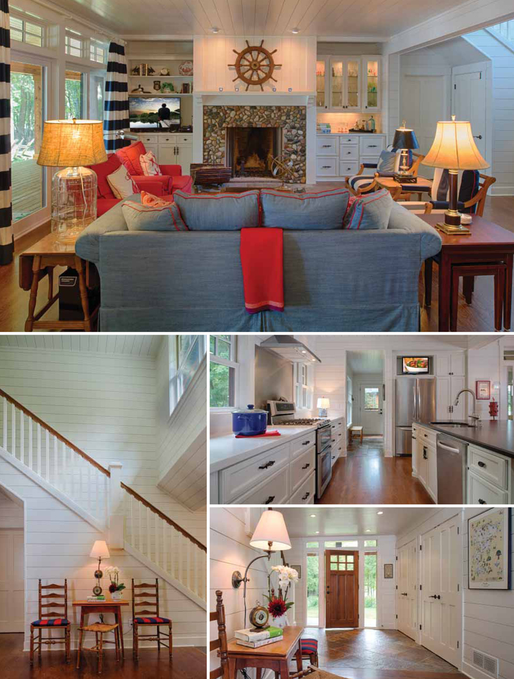 Cape-Cod-style summer cottage collage