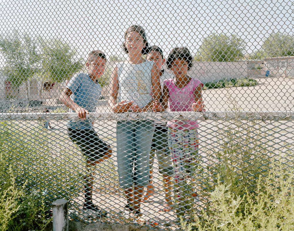 32 Children in Puerto de Anapra, México Through The US Security Fence, Sunland Park, NM August 2010 (11in Print Copy).jpg