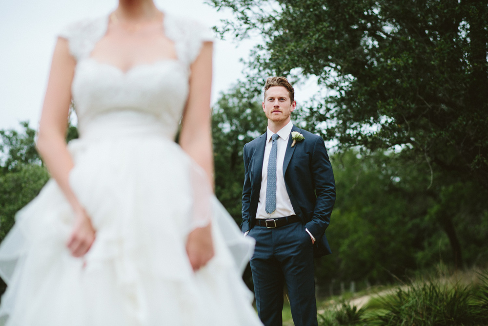 Stylish Groom with Bride | Lisa Woods Photography