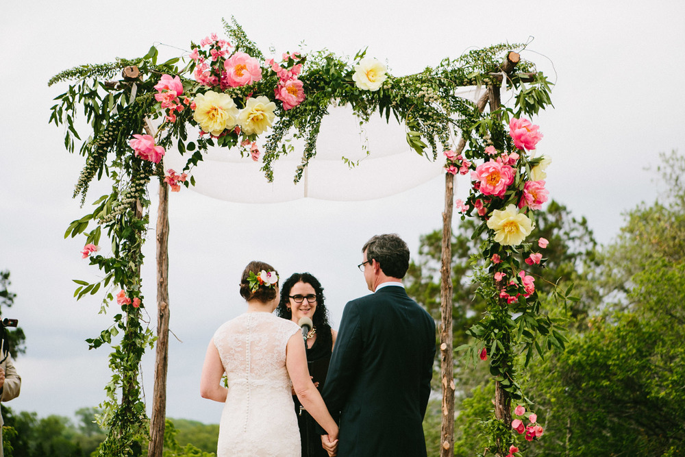 Blooming Floral Altar | Home Ranch Wedding | Lisa Woods Photography